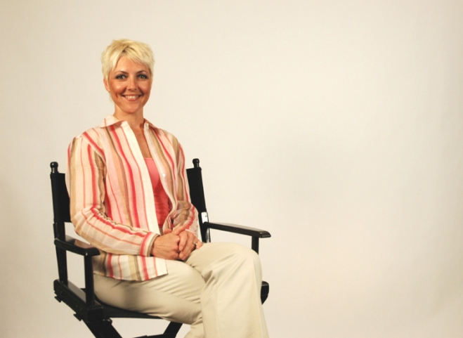 Amy Baue Professional Talent in Directors Chair